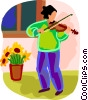 person playing the violin Vector Clipart picture