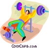 person working out with weights Vector Clip Art picture
