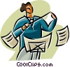 Vector Clip Art image  of a conductor