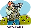 woman taking pictures Vector Clip Art image
