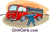 fire trucks Vector Clipart illustration