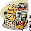 Vector Clipart graphic  of a boxes for storage
