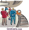 People waiting at the subway station Vector Clip Art picture