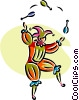 Vector Clip Art image  of a court jester