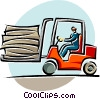 forklift operators Vector Clipart picture