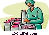 science researchers Vector Clip Art picture