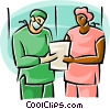 doctors and nurses in a hospital Vector Clipart graphic