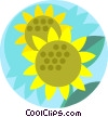 Vector Clipart image  of a sunflowers