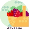 basket of fruit Vector Clipart image