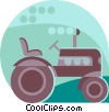 farm tractor Vector Clip Art picture