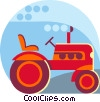 Vector Clip Art graphic  of a farm tractor