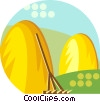 haystacks Vector Clipart picture