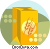 Vector Clip Art image  of a box of wheat