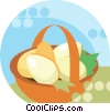 basket of eggs Vector Clipart illustration