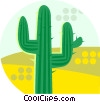 Vector Clipart graphic  of a cactus growing in the desert