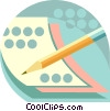 Vector Clipart picture  of a pencil and paper