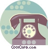 Vector Clip Art graphic  of a telephones