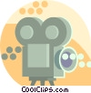 movie cameras Vector Clipart graphic