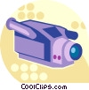 Vector Clipart illustration  of a video camera