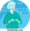 doctor preparing for surgery Vector Clip Art graphic
