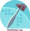 Vector Clip Art graphic  of a Doctors hammer