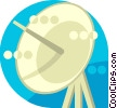 Vector Clipart picture  of a satellite dish