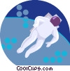 Vector Clip Art graphic  of an astronaut
