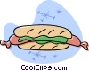 Vector Clip Art image  of a hotdogs