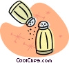 Vector Clipart image  of a salt and pepper shakers
