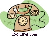 old fashion telephone Vector Clipart graphic
