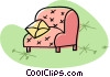 comfortable chair Vector Clipart illustration