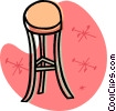 Vector Clipart illustration  of a stool