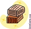 bricks Vector Clipart illustration