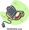 Vector Clip Art picture  of a waffle maker