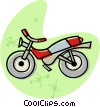 Vector Clip Art image  of a motorcycle