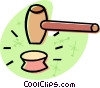 Vector Clip Art image  of a gavel
