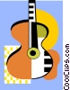 Vector Clipart illustration  of an acoustic guitars