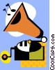 Vector Clip Art graphic  of an antique record player