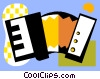 Vector Clip Art image  of an accordions