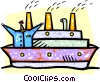 captain and his ship Vector Clipart image