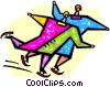 couple figure skating Vector Clipart image