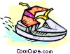 Person riding a sea doo Vector Clipart picture