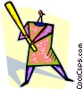 Vector Clip Art image  of a baseball player