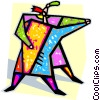 Vector Clip Art image  of a couple dancing