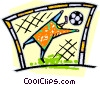 Soccer goalies Vector Clipart illustration