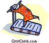 Vector Clip Art graphic  of a person running on the