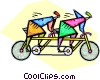 Vector Clipart graphic  of a two seat bicycle