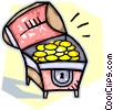 Vector Clipart graphic  of a treasure chests