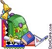 Vector Clipart image  of a School supplies