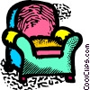 Vector Clip Art image  of a sofa chairs